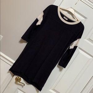 Madewell sz S football dress jersey washed black